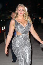 Iskra Lawrence Stills Arrives at a Grammy's After-party in New York 2018/01/29