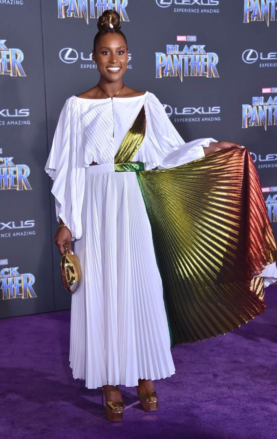 Issa Rae Stills at Black Panther Premiere in Hollywood 2018/01/29