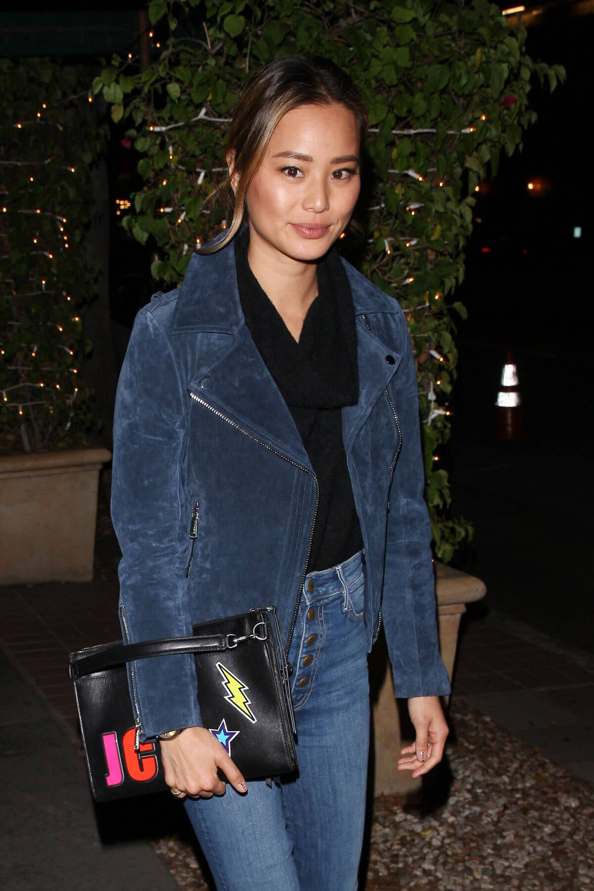 Jamie Chung Stills Out for Dinner at Madeo in West Hollywood 2018/01/18