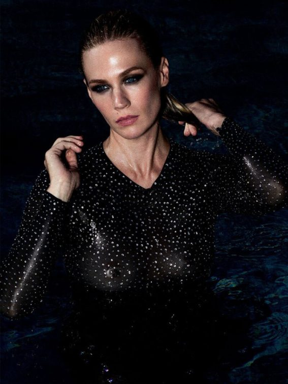 January Jones Poses for Violet Grey, January 2018 Issue