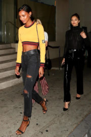 Jasmine Tookes and Shanina Shaik Stills Night Out in West Hollywood 2017/12/22