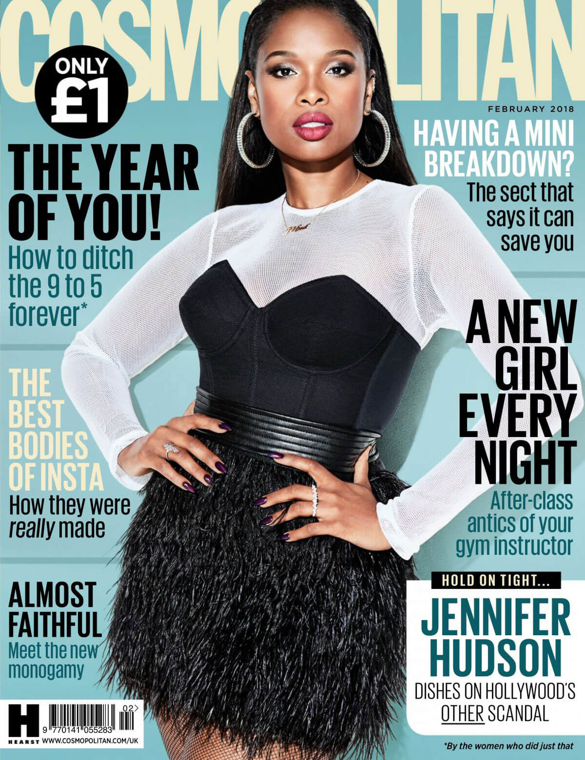 Jennifer Hudson Stills in Cosmopolitan Magazine, UK February 2018 Issue
