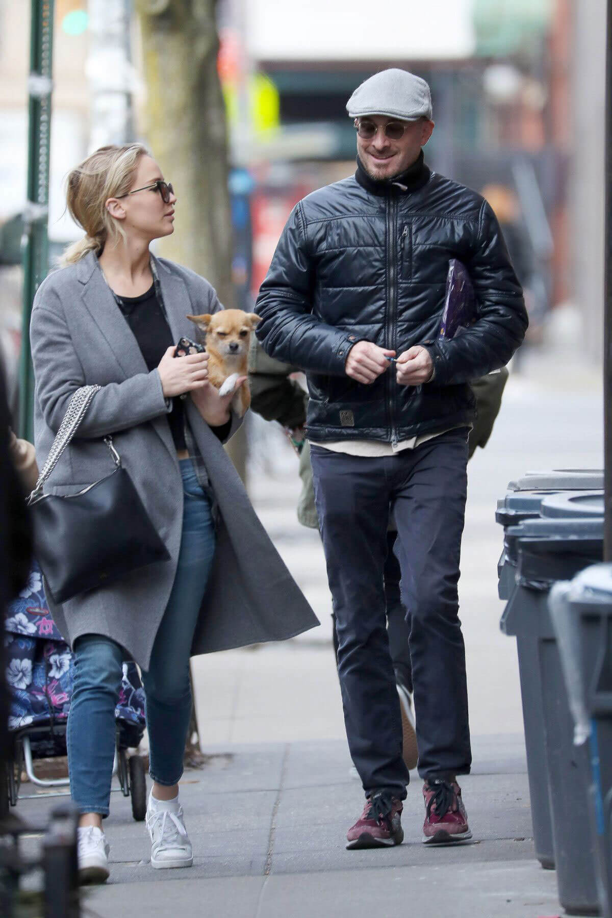 Jennifer Lawrence and Darren Aronofsky Stills Out in New York 2017/12/20