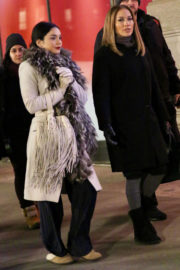Jennifer Lopez and Vanessa Hudgens Stills on the Set of Second Act in New York 2017/12/08