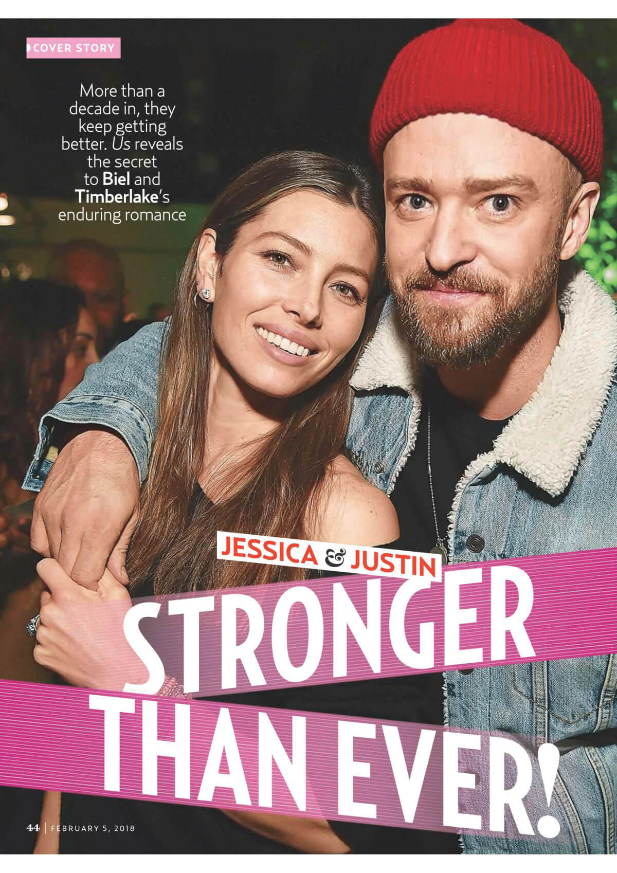 Jessica Biel and Justin Timberlake Stills in US Weekly Magazine, February 5th 2018 Issue