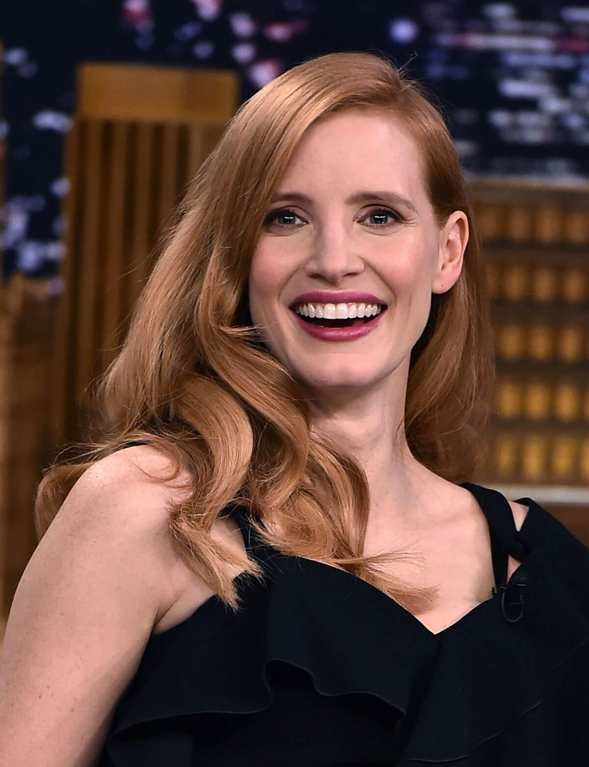 Jessica Chastain Stills at Tonight Show Starring Jimmy Fallon in New York 2018/01/18