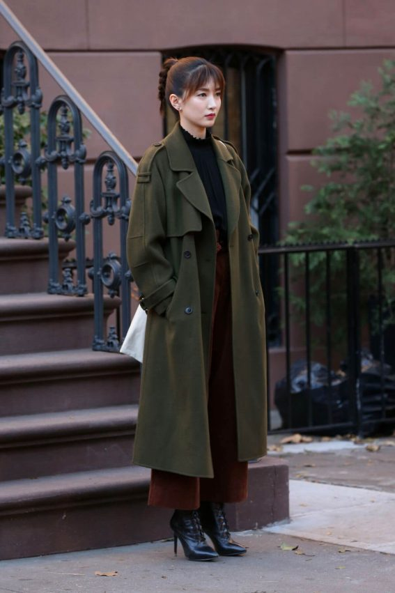 Jiang Shuying Stills on the Set of In New York in West Village in New York 2017/11/17