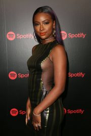 Justine Skye Stills at 2018 Spotify Best New Artists Party in New York 2018/01/25