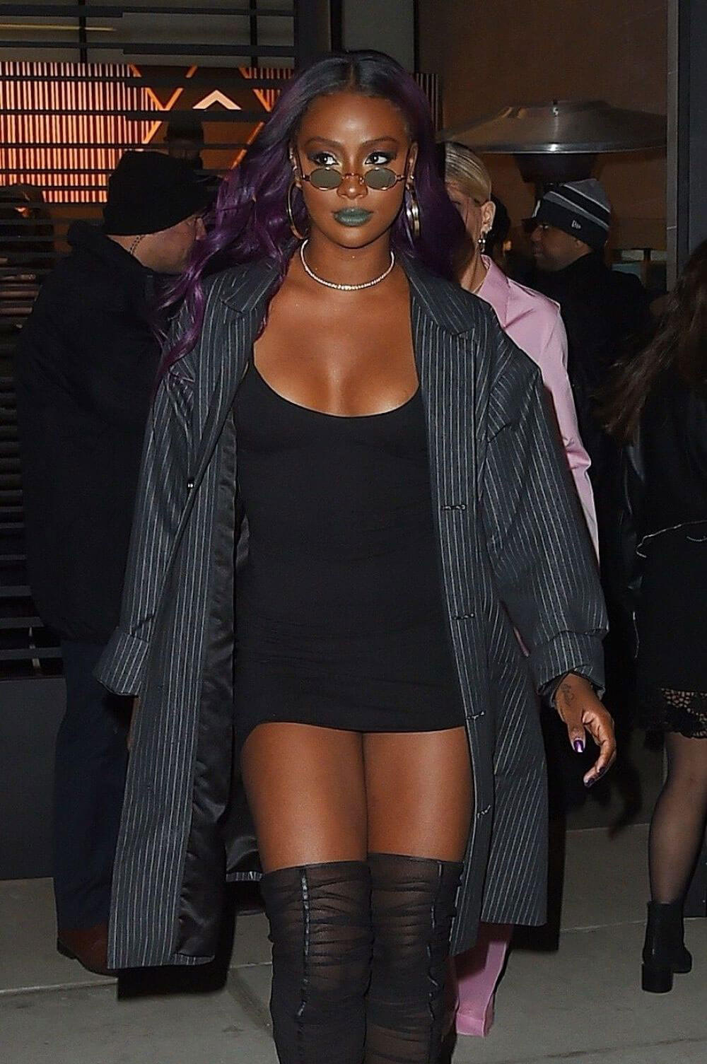 Justine Skye Stills Leaves Republic Records Party in New York 2018/01/26