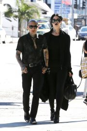 Kat Von D and Leafar Reyes Stills Out for Lunch in West Hollywood 2018/01/28