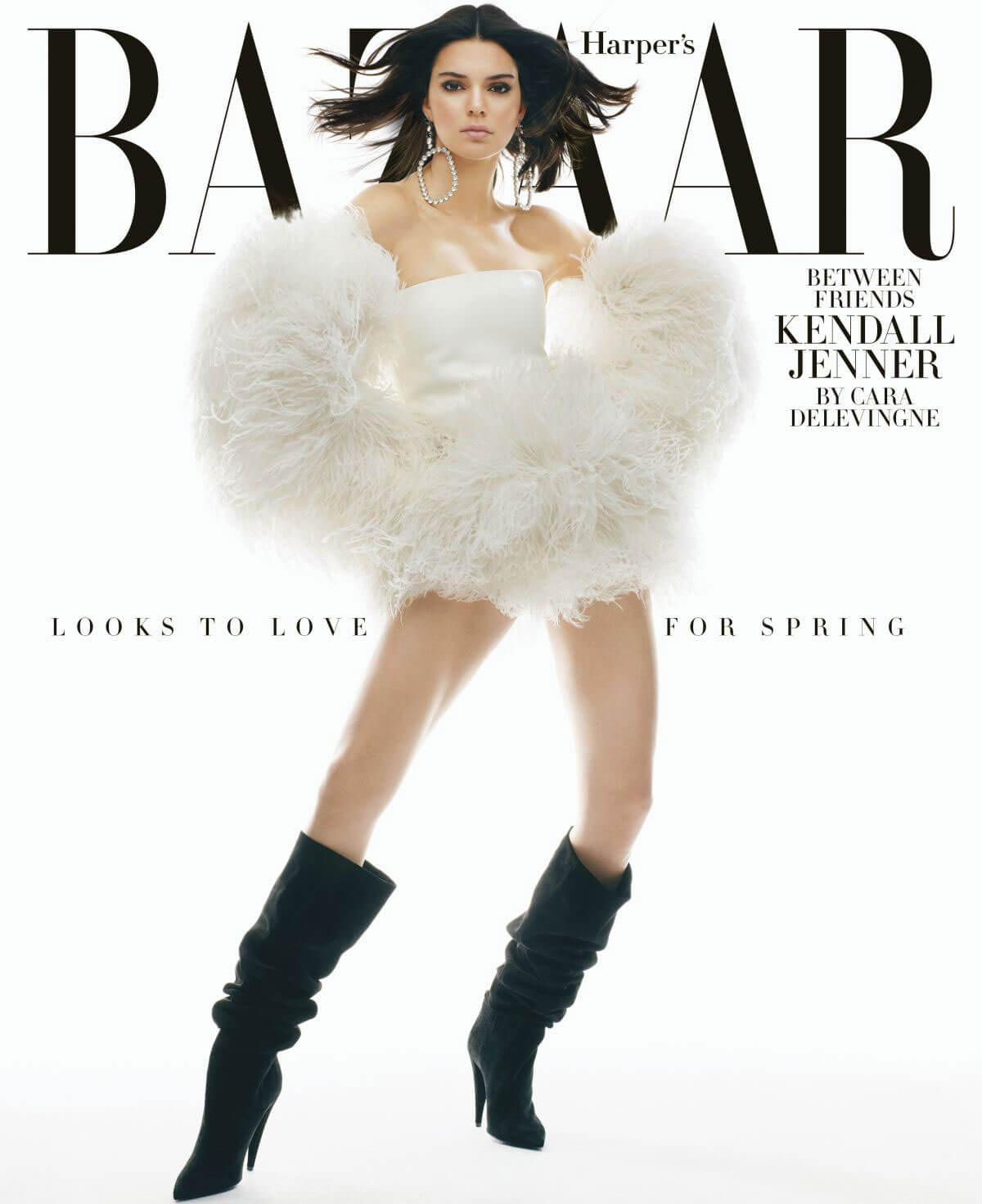 Kendall Jenner Poses for Harper's Bazaar Magazine, February 2018 Issue