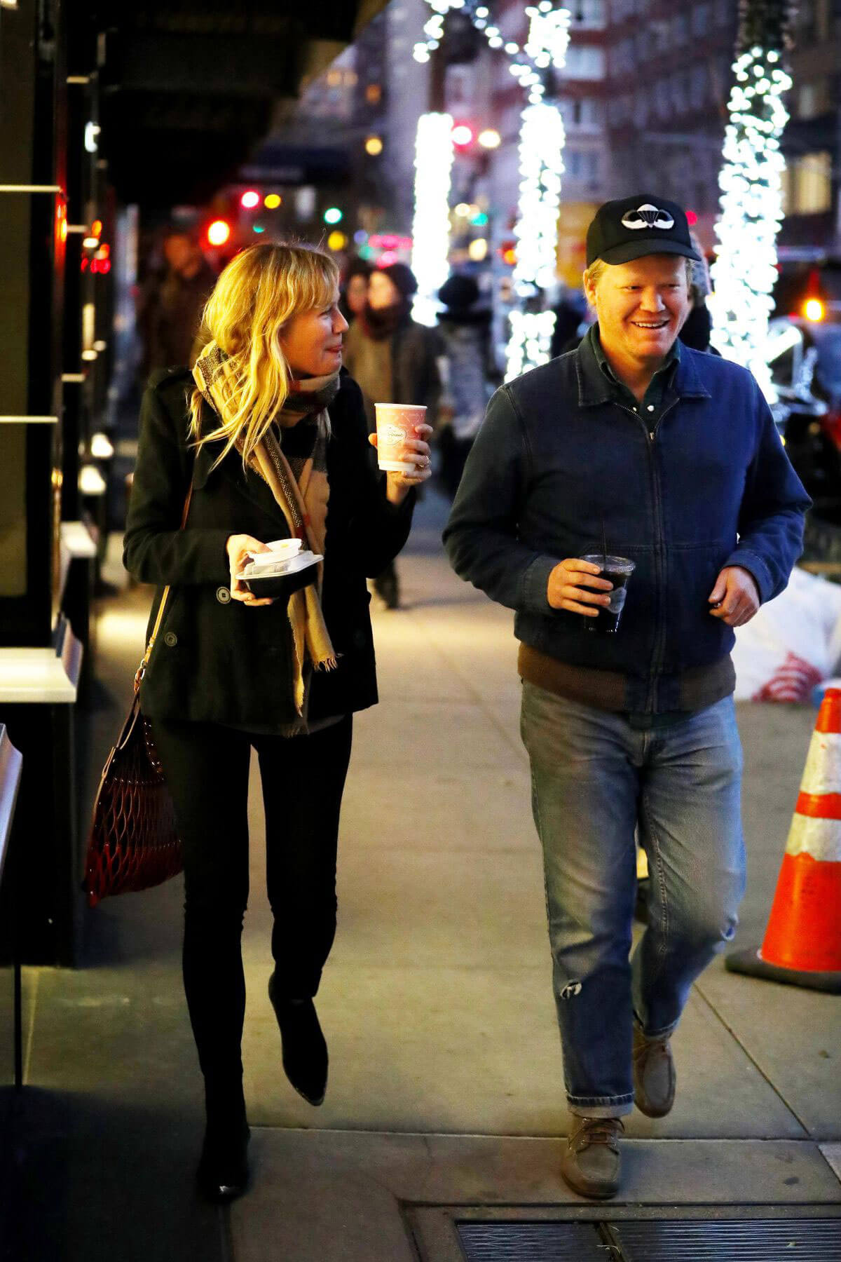 Kirsten Dunst and Jesse Plemons Stills Night Out in New York 2017/11/16