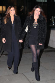 Kym Marsh and Alison King Stills at Coronation Street Christmas Party in Manchester 2017/12/08