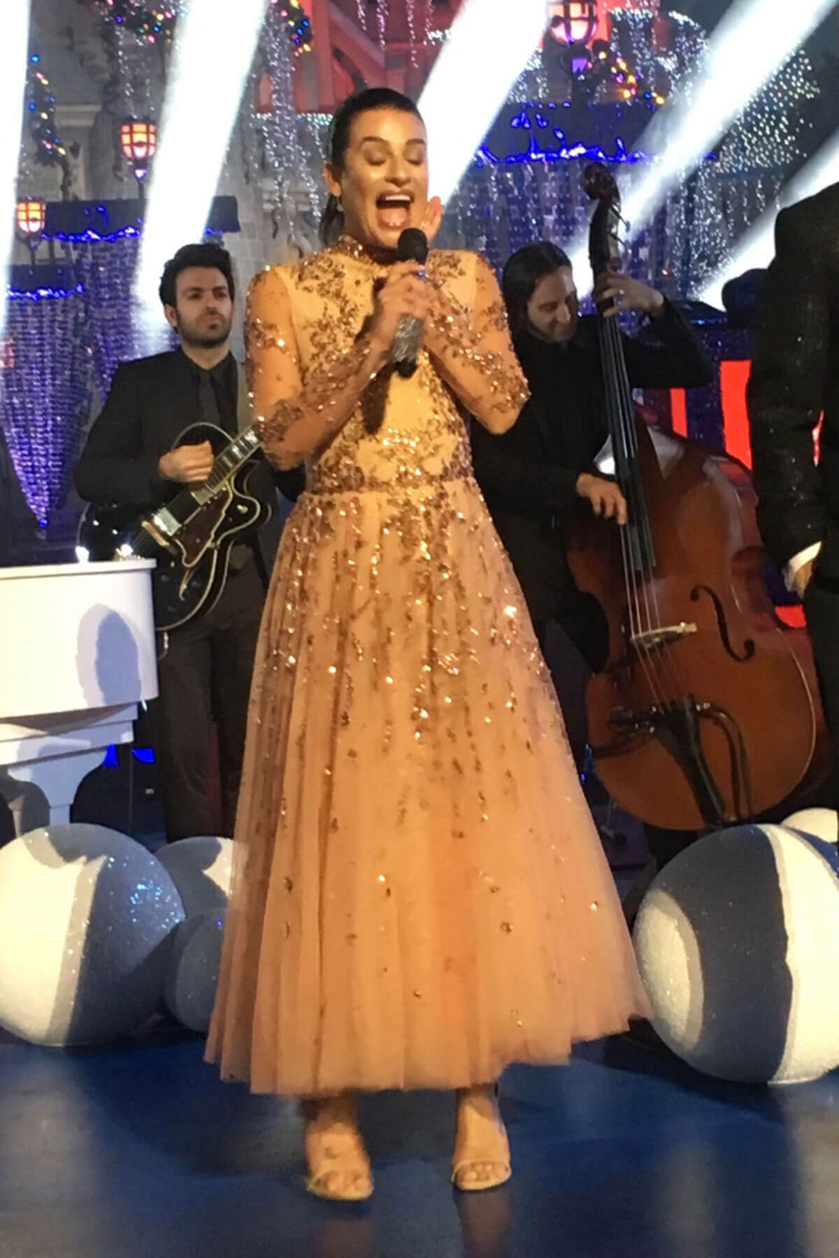 Lea Michele Stills Performs at ABC TV Christmas Special at Sisneyland Park in Anaheim 2017/11/14