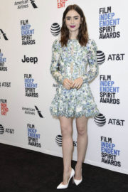 Lily Collins Stills at 2018 Film Independent Spirit Awards Press Conference in Los Angeles 2017/11/21