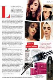 Lily Collins Stills in Instyle Magazine, February 2018 Issue