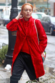 Lindsay Lohan Stills Out and About in New York 2018/01/12