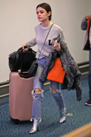 Lucy Hale Stills at Vancouver International Airport 2017/11/13