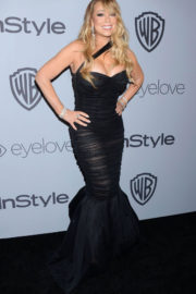 Mariah Carey Stills at Instyle and Warner Bros Golden Globes After-party in Los Angeles 2018/01/07