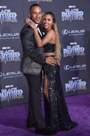 Meagan Good Stills at Black Panther Premiere in Hollywood 2018/01/29