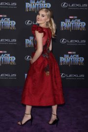 Meg Donnelly Stills at Black Panther Premiere in Hollywood 2018/01/29