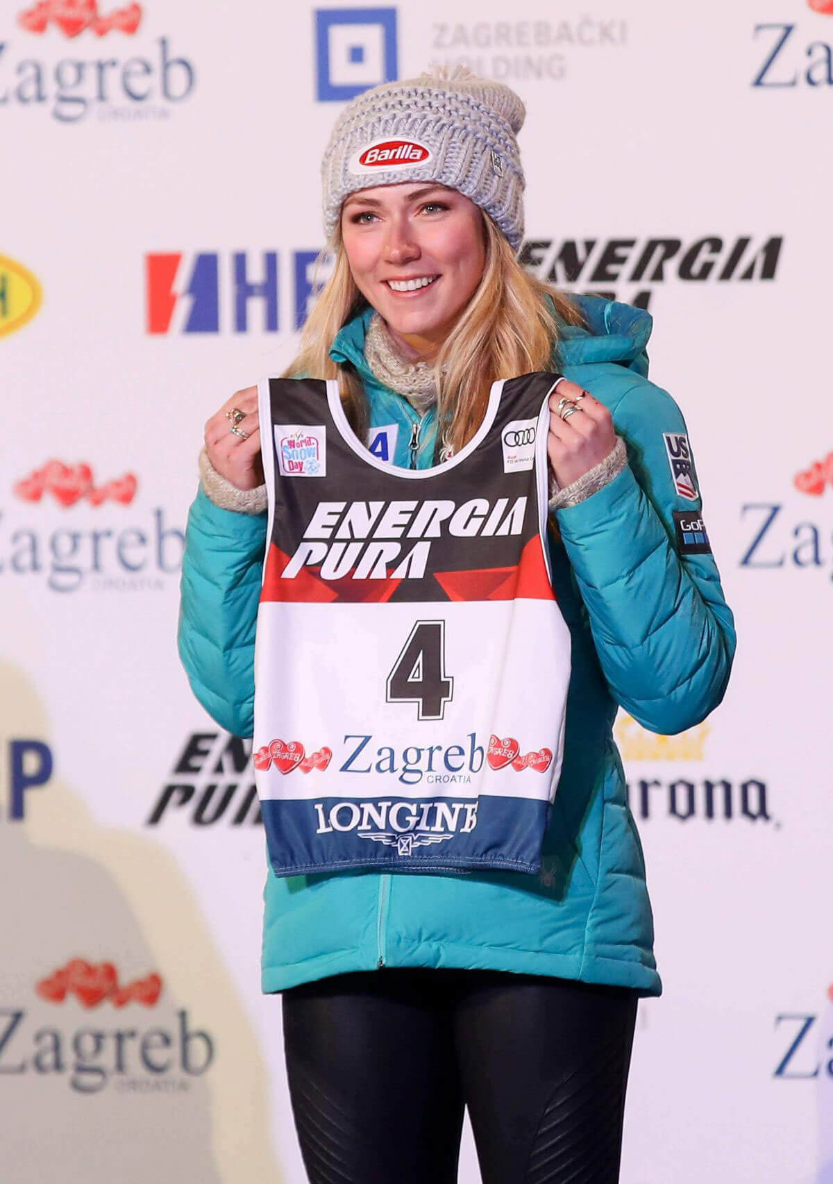 Mikaela Shiffrin Stills at Alpine Skiing Fis World Cup Ladies Draw in Zagreb 2018/01/02