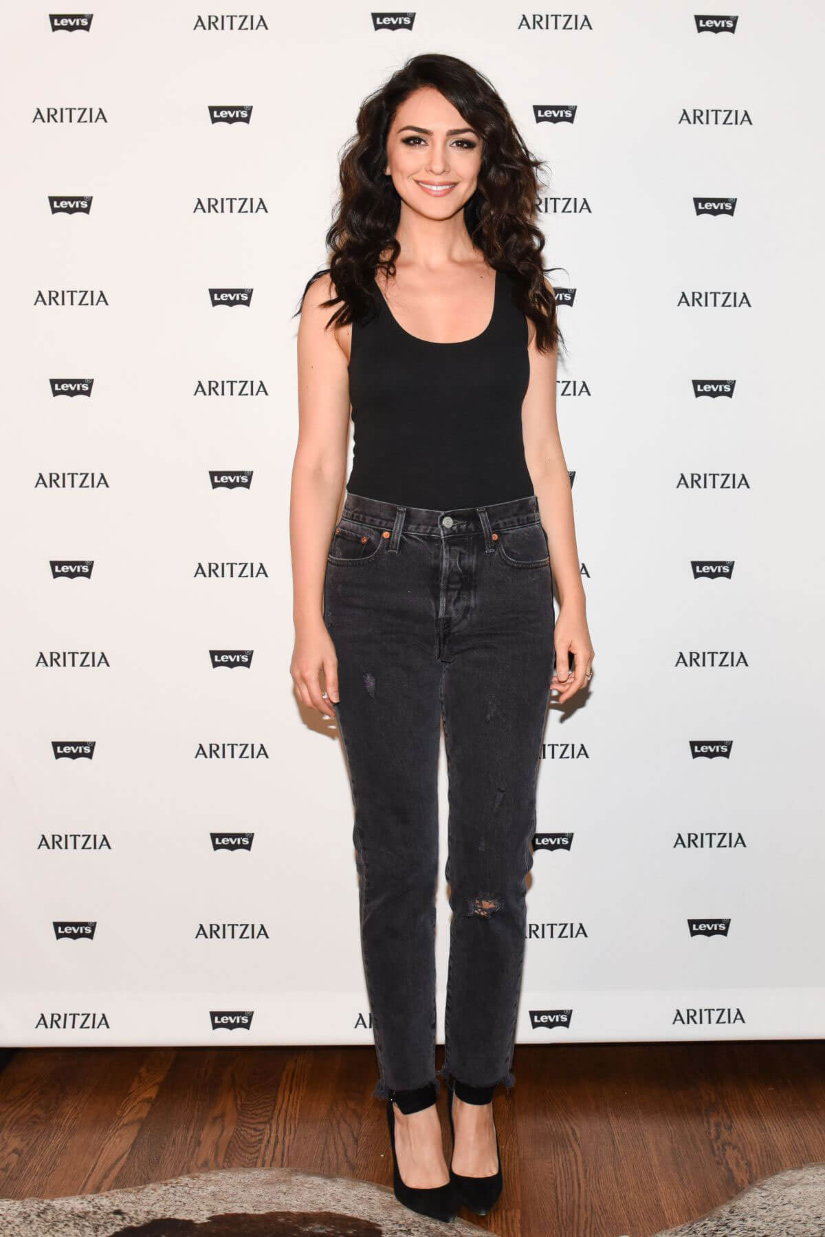 Nazanin Boniadi Stills at Levi's by Aritzia Collection Launch in Los Angeles 2017/11/16
