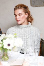 Nina Agdal Stills at Aeriereal Role Models Dinner Party in New York 2018/01/25