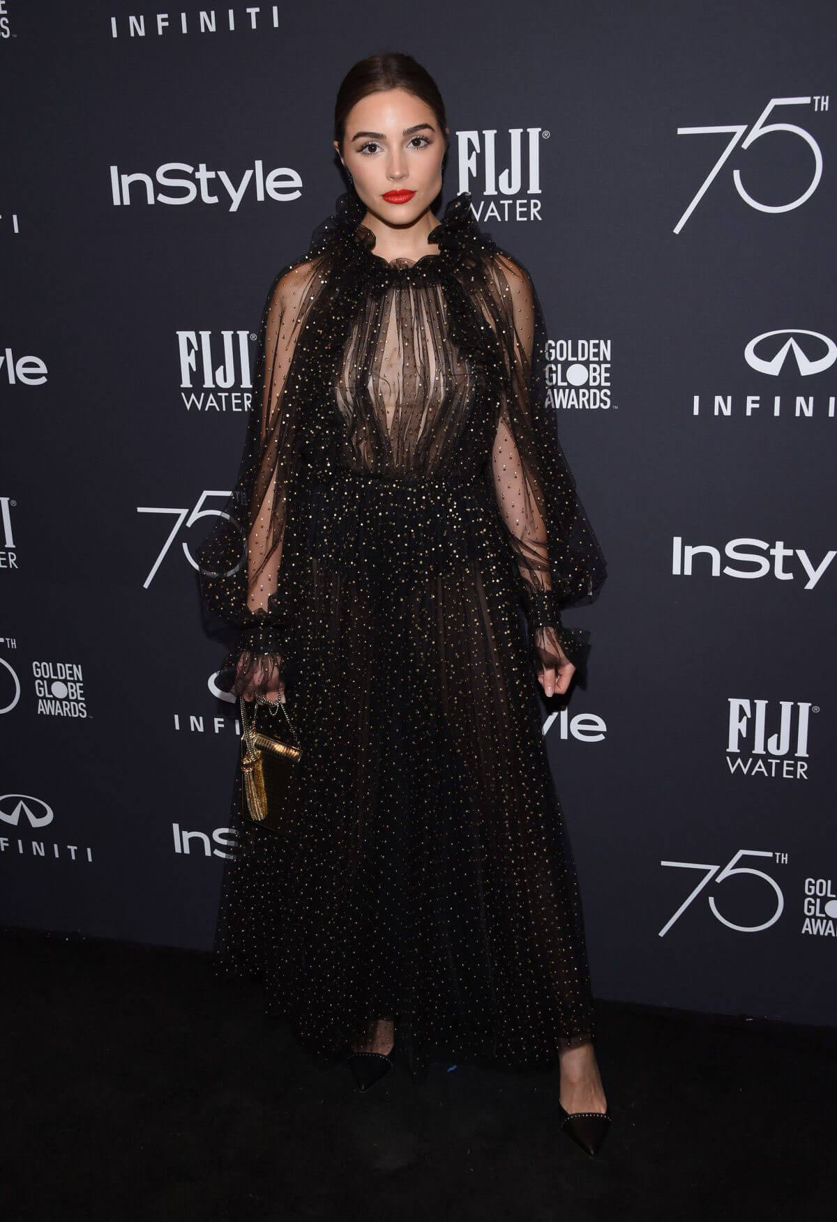 Olivia Culpo Stills at HFPA & Instyle Celebrate 75th Anniversary of the Golden Globes in Los Angeles 2017/11/15