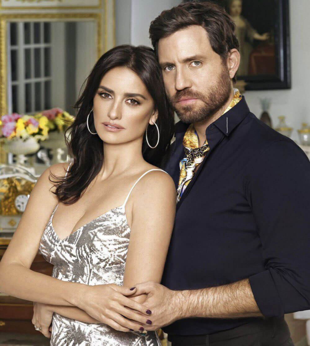 Penelope Cruz & Edgar Ramirez Stills Cover 'Town & Country' March 2018 Issue