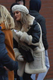 Perrie Edwards Stills Arrives at Anfield Stadium in Liverpool 2017/12/30
