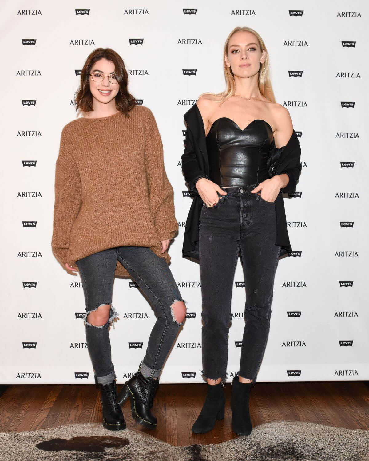 Rachel Skarsten and Adelaide Kane Stills at Levi's by Aritzia Collection Launch in Los Angeles 2017/11/16