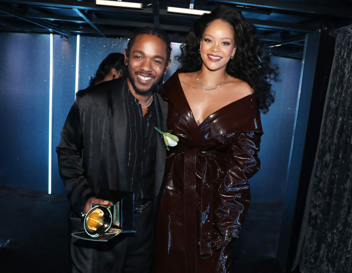 Rihanna and Kendrick Lamar Stills at Grammy 2018 Awards in New York 2018/01/28