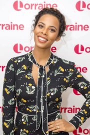 Rochelle Humes Stills at Lorraine TV Show in London 2018/01/30