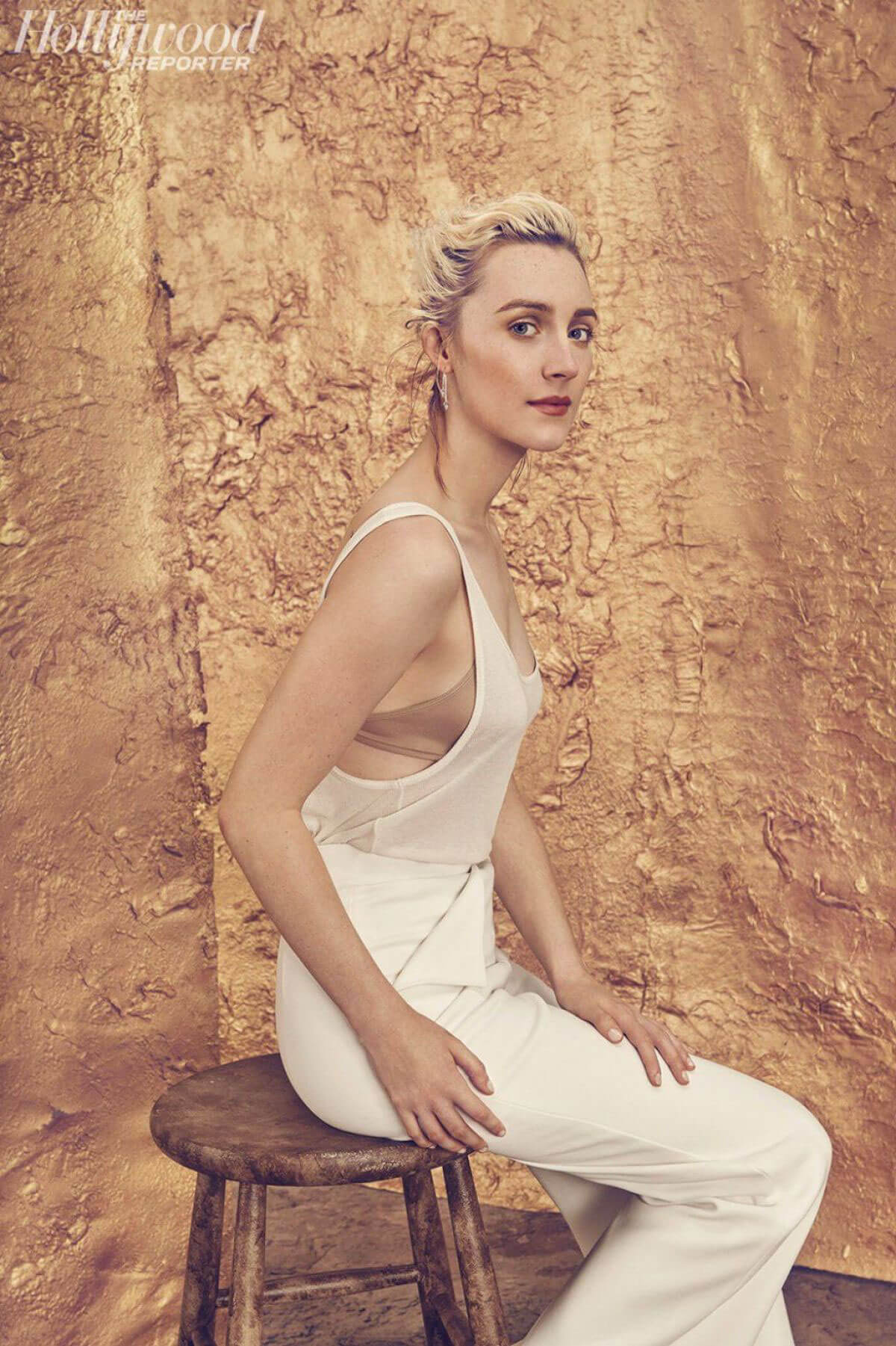 Saoirse Ronan Stills in The Hollywood Reporter Roundtable, November Issue 2017