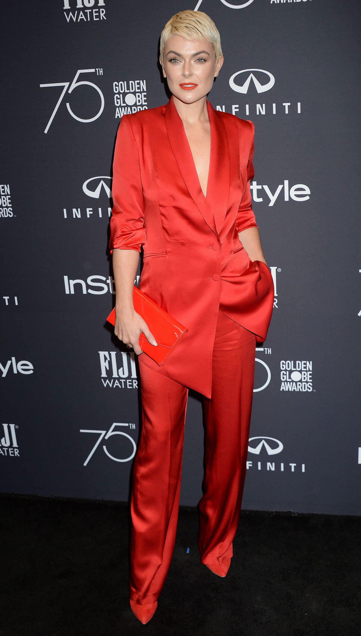 Serinda Swan Stills at HFPA & Instyle Celebrate 75th Anniversary of the Golden Globes in Los Angeles 2017/11/15