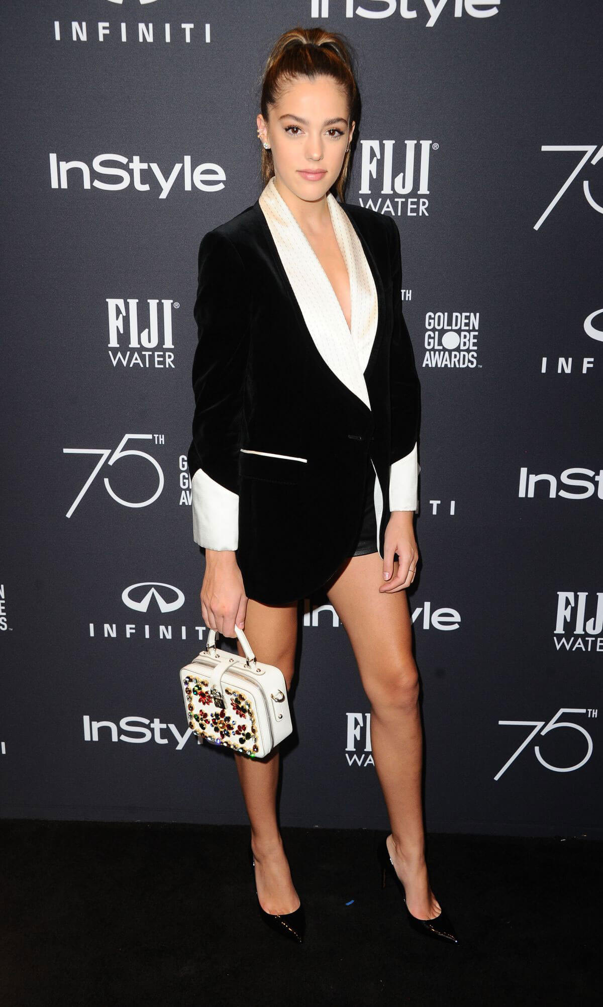 Sistine Rose Stallone Stills at HFPA & Instyle Celebrate 75th Anniversary of the Golden Globes in Los Angeles 2017/11/15
