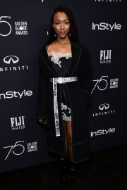 Sonequa Martin Stills at HFPA & Instyle Celebrate 75th Anniversary of the Golden Globes in Los Angeles 2017/11/15