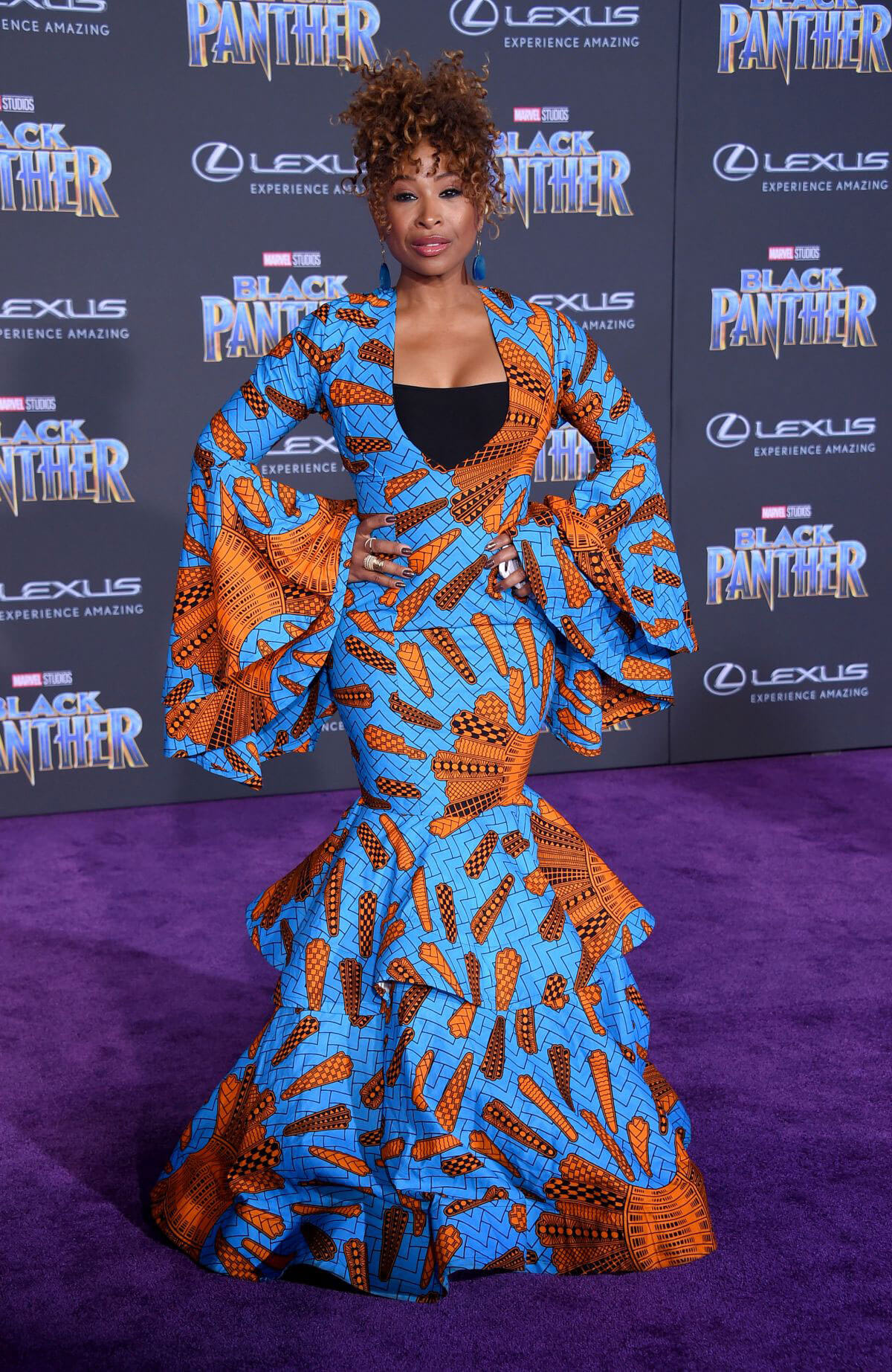 Tanika Ray Stills at Black Panther Premiere in Hollywood 2018/01/29