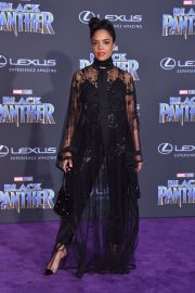 Tessa Thompson Stills at Black Panther Premiere in Hollywood 2018/01/29