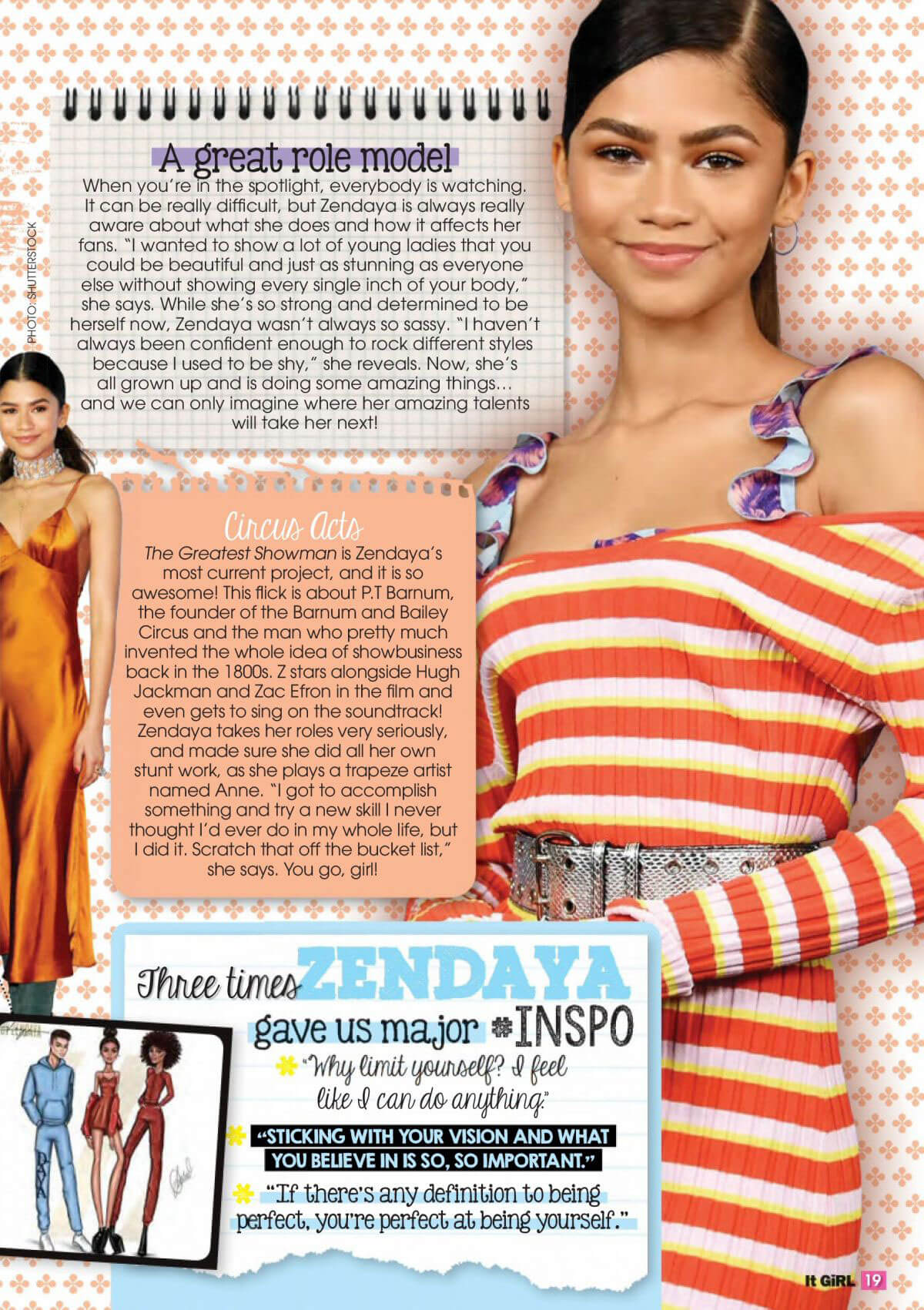 Zendaya Stills in It Girl Magazine, February 2018 Issue