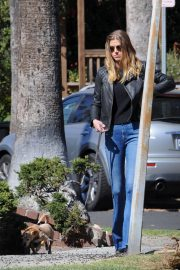 Adrianne Palicki Stills Out with Her Dog in Los Angeles 2018/02/23