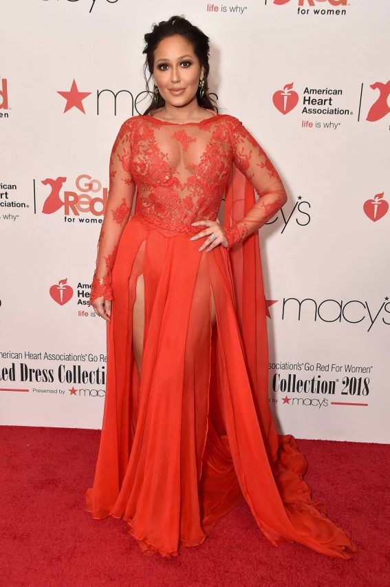 Adrienne Bailon Stills at Go Red for Women Red Dress Collection 2018 Presented by Macy's in New York 2018/02/08