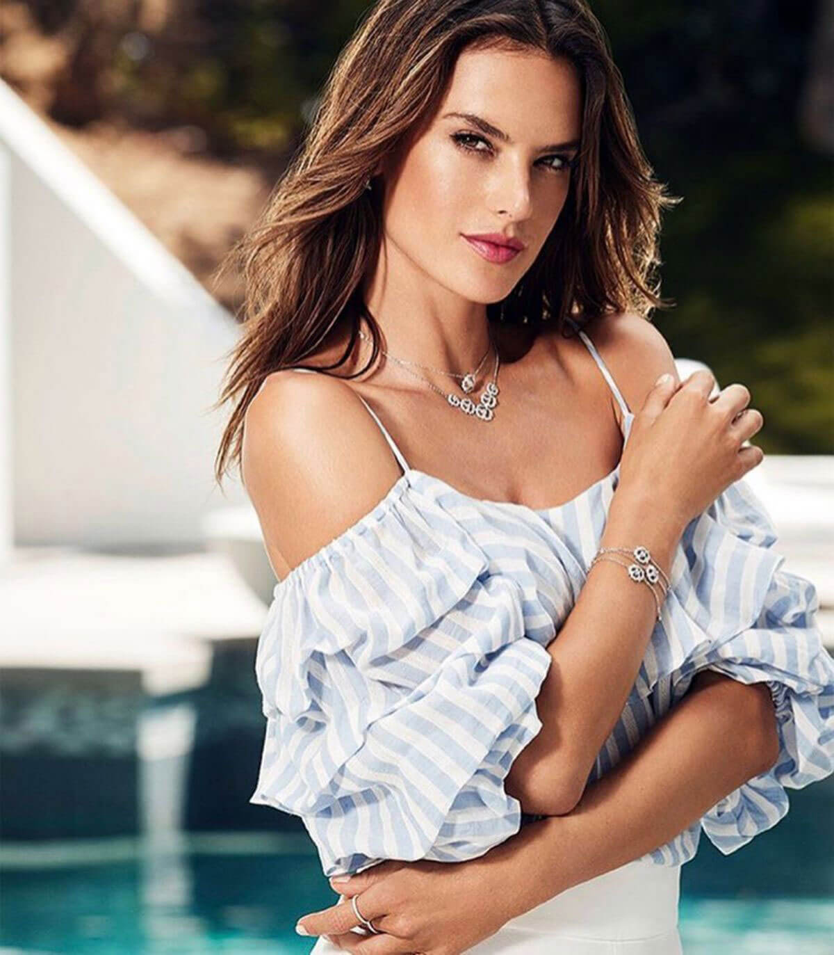 Alessandra Ambrosio Poses for Swarovski Advertising Campaign, 2018 Issue