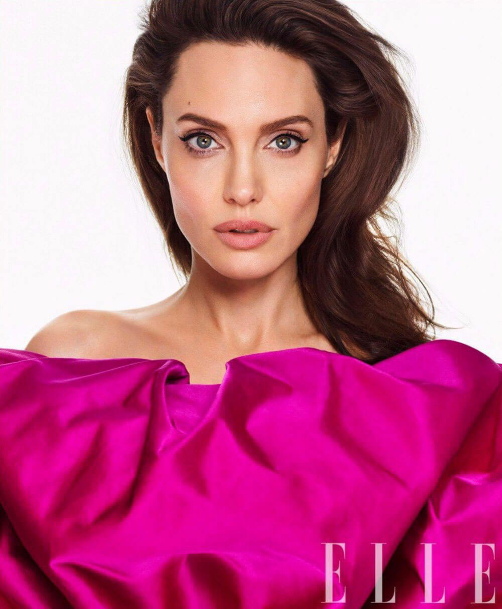 Angelina Jolie Poses for Elle Magazine, March 2018 Issue