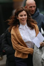 Anna Friel Stills on the Set of Butterfly in Manchester City Centre 2018/01/09