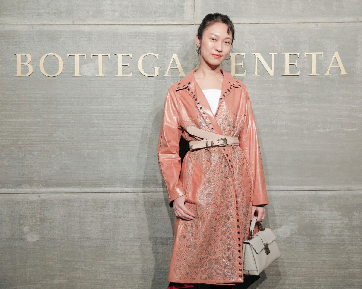 Anny Fan Stills at Bottega Veneta Show at New York Fashion Week 2018/02/09