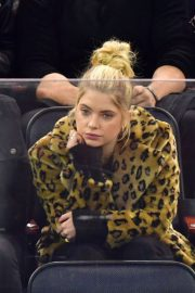 Ashley Benson Stills at Calgary Flames vs New York Rangers Hockey Game in New York 2018/02/09