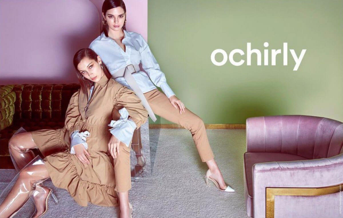 Bella Hadid and Kendall Jenner Poses for Ochirly Spring/Summer 2018 Collection Photos