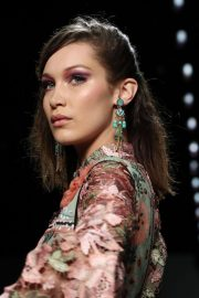 Bella Hadid Stills at Anna Sui Runway Show at New York Fashion Week 2018/02/12
